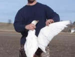 Missouri goose hunt all white snow